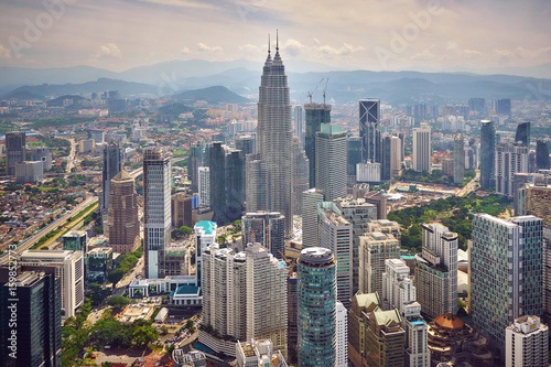 Poster Aerial view of Kuala Lumpur in the morning
