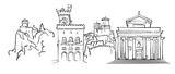 San Marino Panorama Sketch