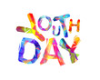 Youth day. Triangular letters