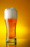 beer glass with foam