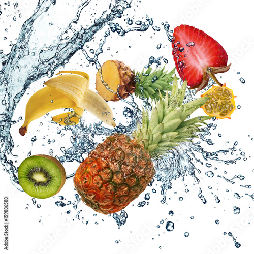 Fruit and water - 159886588