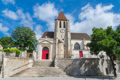 Paris, Charonne church, Saint-Germain-de-Charonne,in Saint-Blaise district Poster