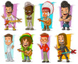 Cartoon cool funny different characters vector set - 159902702
