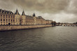 Dark mysterious sky before storm in Paris