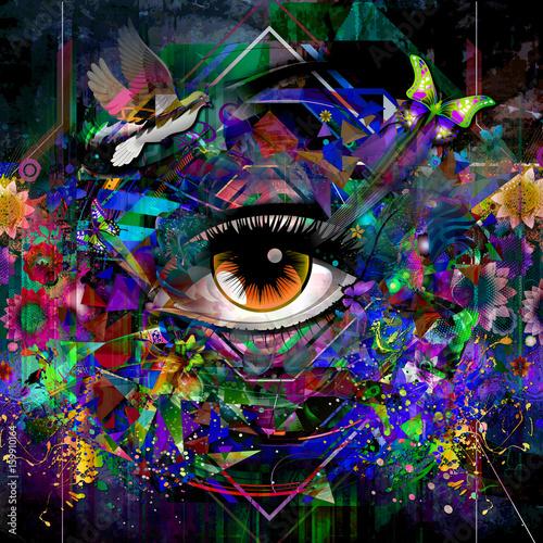 Aluminium Reznik Цветная обратная иллюстрация для глаз