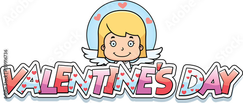 Cartoon Girl Cupid Graphic