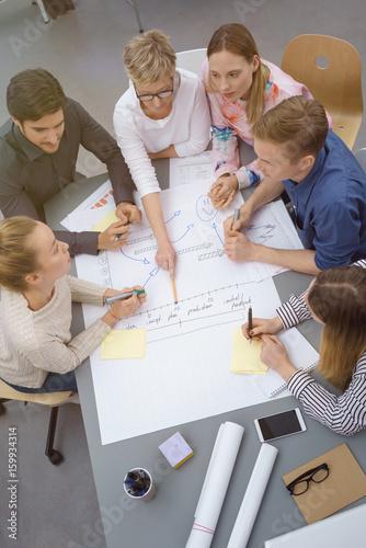 gruppe im büro plant ein projekt Poster