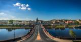 Panorama of Gorzow Wielkopolski, Poland from the from the observation tower Dominanta at sunny day  architekturaatrakcjaprzyciaganieprzyciąganieprzywiazanieprzywiązaniepieknypięknyblekitblekitnybłękit - 159989181