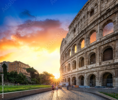 fototapeta na ścianę Das Kolosseum in Rom, Italien