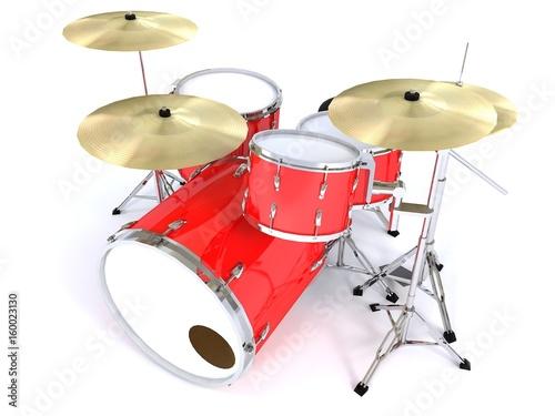 vista-superior-frontal-tambor-rojo-representacion-3d