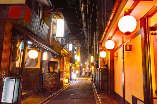 京都 夜の先斗町