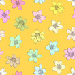 Colorful flowers seamless background. - 160101398