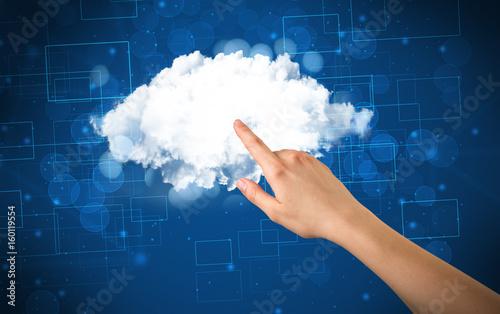 Hand touching cloud - 160119554