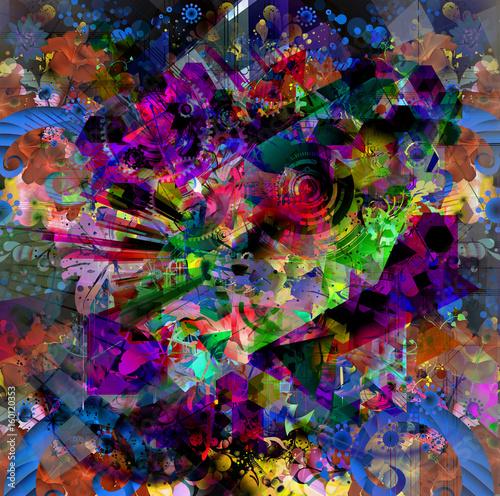 Aluminium Reznik Красочная художественная или декоративная живопись, яркий художественный фон