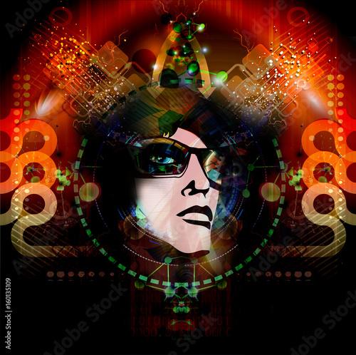 Aluminium Reznik Красочная художественная или декоративная роспись лицом в солнцезащитных очках