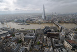 Modern architectural buildings and panoramic aerial London, United Kingdom.