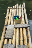 Bamboo raft in Royal Belum Rainforest Park - existence for over 130 million years making it one of the world's oldest rainforest.