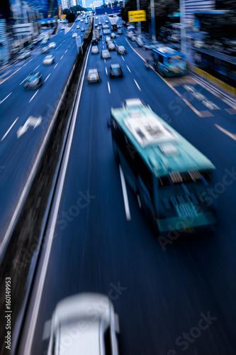 Plakat urban traffic view in modern city of China.