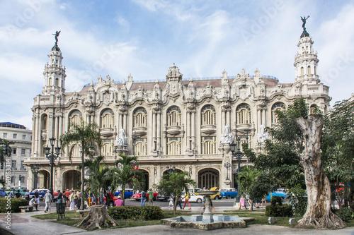"Foto op Canvas Havana Fassade des Grossen Theaters ""Garcia Lorca"" in Havanna."