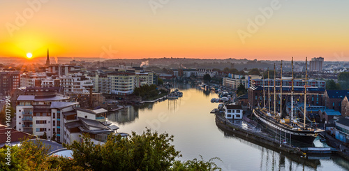 Bristol Harbourside at sunrise - 160171996