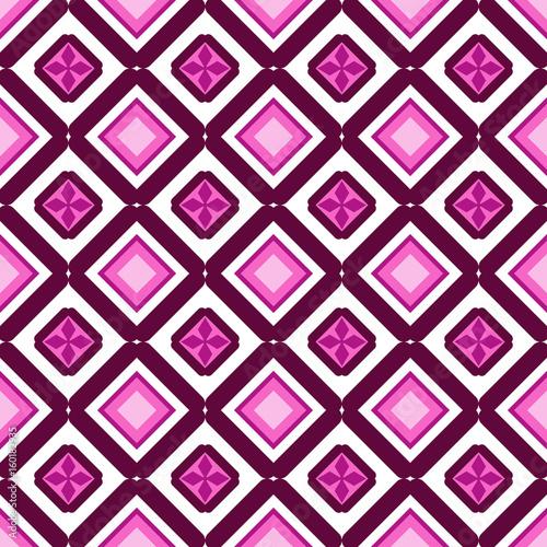 retro seamless wallpaper background Japanese purple pink diamond check geometry chintz