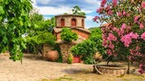 A chapel in the ancient famous monastery Moni Limonos Monastery on the island of Lesbos in Greece. - 160247561