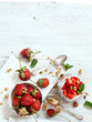 Chia pudding Strawberry parfait