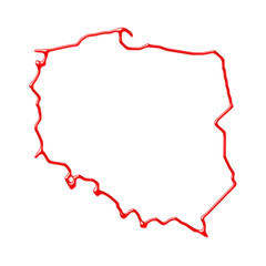 Mapa Polski Kontur 93983248 Plakaty