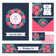 Wedding set. Stationery design set in vector format. Banner templates. Greeting cards or invitations