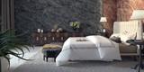 Fototapety Modern design of bedroom 3d Render