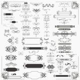 Huge set of vector decorative frame and flourishes for design - 160362302