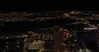 Las Vegas Aerial v44 Flying over main strip area at night with panoramic views 4/17