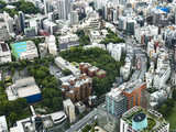 Aerial view of Tokyo cityscape , Japan