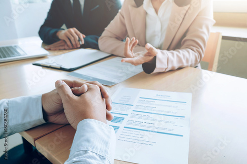 Foto Murales Business, job interview concept.