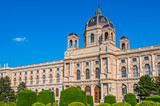 View of famous Natural History Museum with park in Vienna, Austria