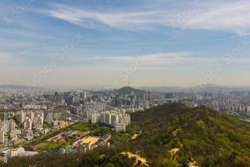 city skyline , seoul korea