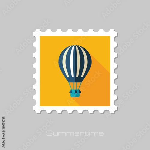 Hot Air Balloon stamp. Summer. Vacation