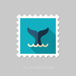 Whale tail stamp. Summer. Vacation