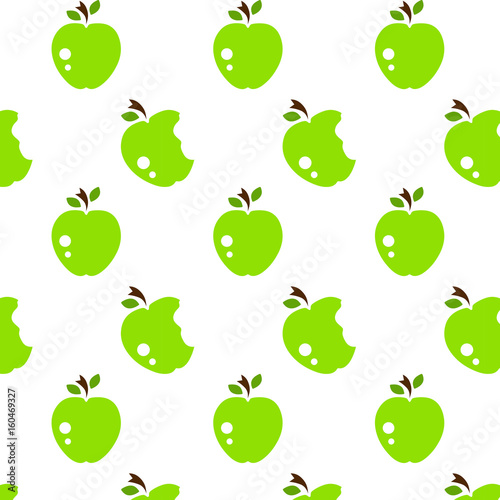 Vector seamless pattern with abstract apples - 160469327