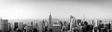 Panorama New York City from above with Empire State Building
