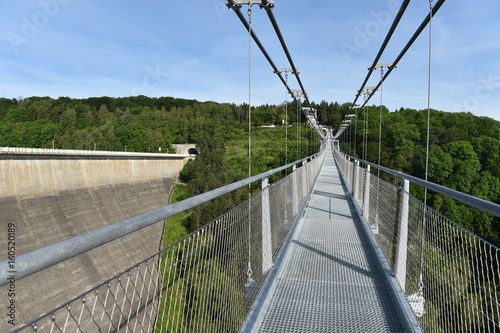 Hängebrücke an der Rappbodetalsperre