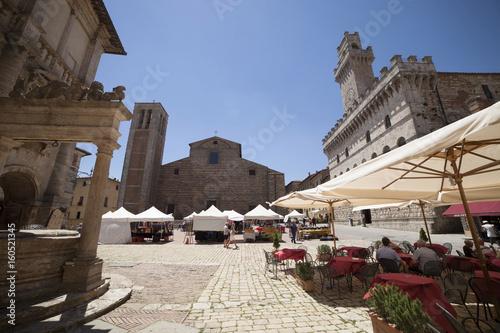 Deurstickers Toscane Italia,Toscana, Montepulciano, Piazza Grande
