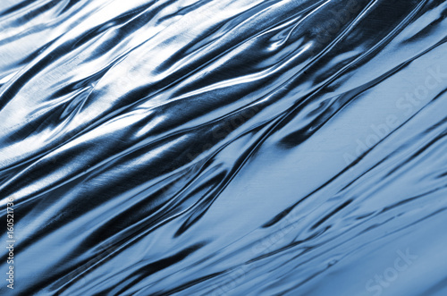 texture of wavy foil sheet Poster