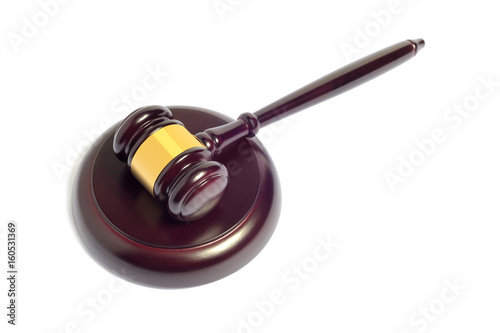Poster Gavel, law concept