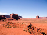 Landscape view of valley floor at Monument Valley, Arizona, USA