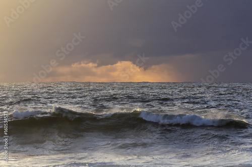 Sea sunset before rain
