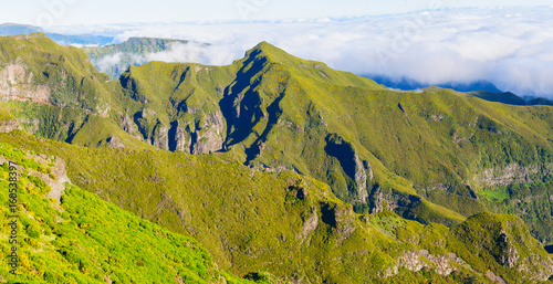 View of mountains on the route Pico Ruivo - Encumeada, Madeira Island, Portugal, Europe Poster