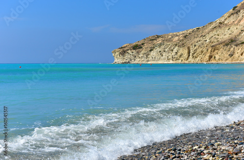 Foto op Plexiglas Cyprus Summer vacation concept. Turquoise sea water and beach