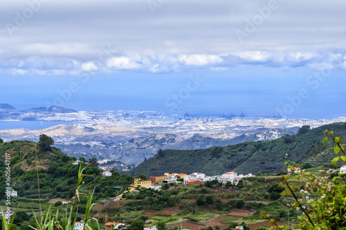 Foto op Canvas Canarische Eilanden Village on Gran Canaria