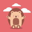 cute animal illustration icon vector design graphic